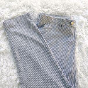 Chino seersucker striped cotton cool slim cut
